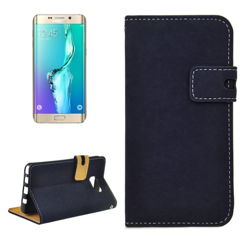 Buy For Samsung Galaxy S6 Edge+ Horizontal Flip Leather Case with Holder & Card Slots & Wallet (Dark Blue) for $2.82 in SUNSKY store