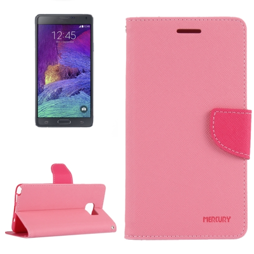 Buy Color Matching Style Cross Texture Horizontal Flip Leather Case with Holder & Card Slots & Wallet for Samsung Galaxy Note 5 / N920 (Pink + Red) for $2.15 in SUNSKY store