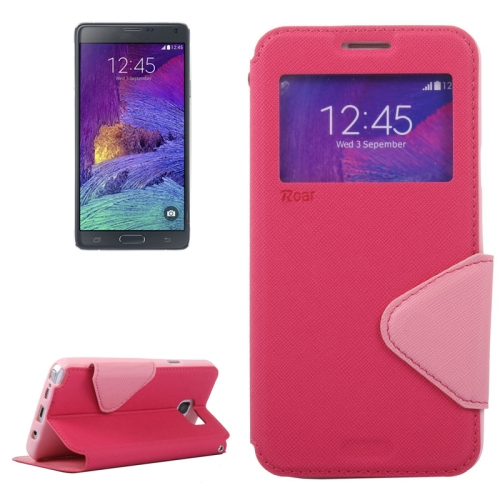 Buy Cross Texture Horizontal Flip Leather Case with Holder & Card Slot for Samsung Galaxy Note 5 / N920, Magenta for $3.70 in SUNSKY store