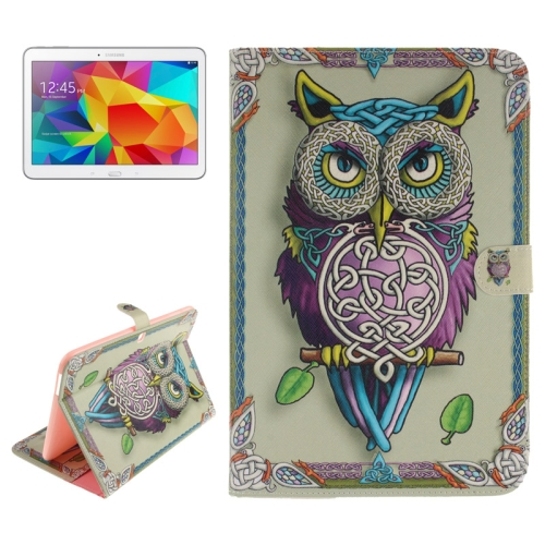 Buy Owl Pattern Leather Case with Holder & Card Slots & Wallet for Samsung Galaxy Tab 4 10.1 / T530 for $5.75 in SUNSKY store
