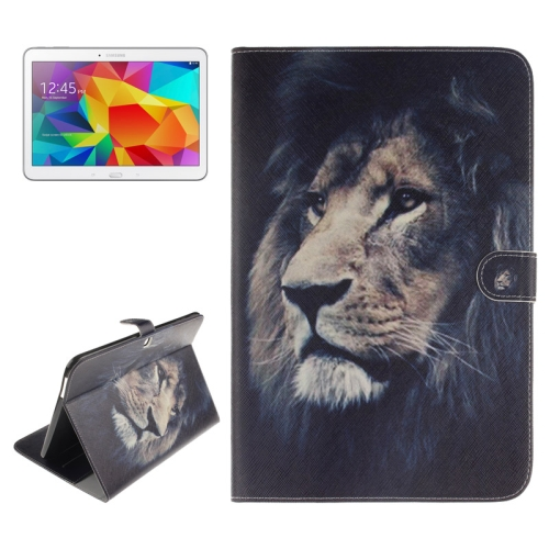 Buy Lion Pattern Leather Case with Holder & Card Slots & Wallet for Samsung Galaxy Tab 4 10.1 / T530 for $5.75 in SUNSKY store