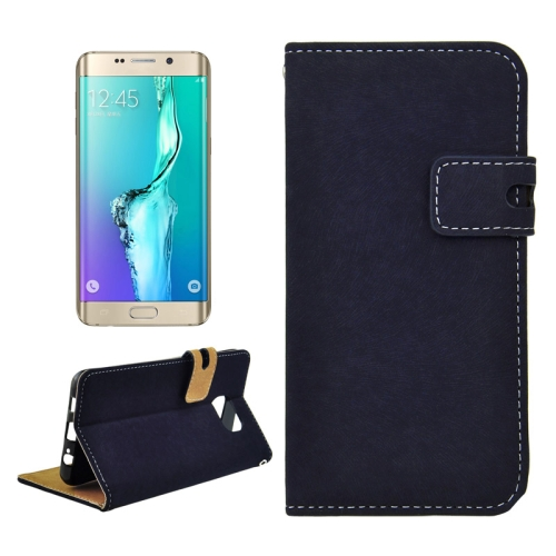 Buy For Samsung Galaxy S6 Edge+ / G928 Angibabe PU + TPU Horizontal Flip Leather Case with Holder & Card Slots & Wallet (Dark Blue) for $2.78 in SUNSKY store