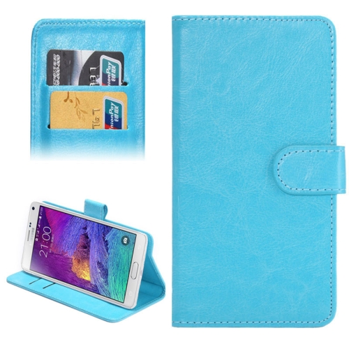 Buy 5.3-5.5 Inch Universal Crazy Horse Texture 360 Degree Rotating Carry Case with Holder & Card Slots for Samsung Galaxy Note I / II / III / IV (Baby Blue) for $1.55 in SUNSKY store