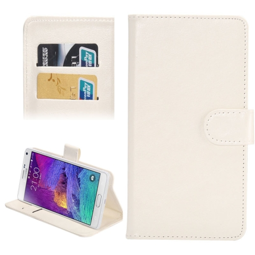 Buy 5.3-5.5 Inch Universal Crazy Horse Texture 360 Degree Rotating Carry Case with Holder & Card Slots for Samsung Galaxy Note I / II / III / IV, White for $1.55 in SUNSKY store