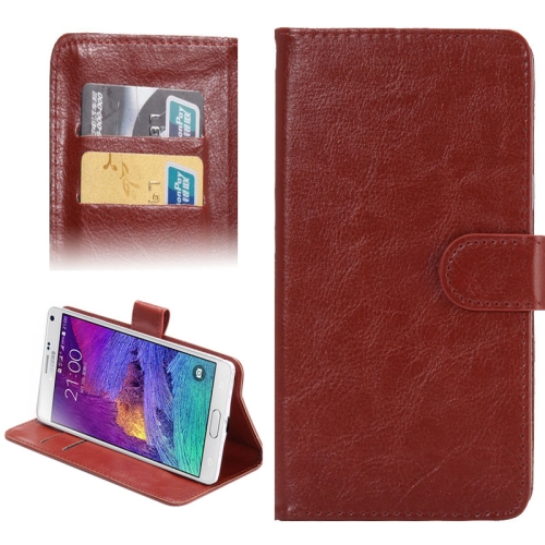 Buy 5.3-5.5 Inch Universal Crazy Horse Texture 360 Degree Rotating Carry Case with Holder & Card Slots for Samsung Galaxy Note I / II / III / IV, Brown for $1.55 in SUNSKY store