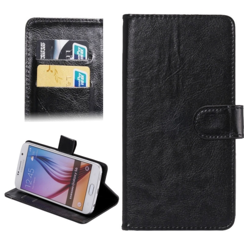 Buy 4.8-5.3 Inch Universal Crazy Horse Texture 360 Degree Rotating Carry Case with Holder & Card Slots for iPhone X, Samsung Galaxy S6 / S5 / Galaxy Grand Duos / G920 / G900 / i9082, Black for $1.55 in SUNSKY store