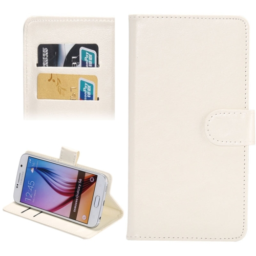 Buy 4.8-5.3 Inch Universal Crazy Horse Texture 360 Degree Rotating Carry Case with Holder & Card Slots for iPhone X, Samsung Galaxy S6 / S5 / Galaxy Grand Duos / G920 / G900 / i9082, White for $1.55 in SUNSKY store