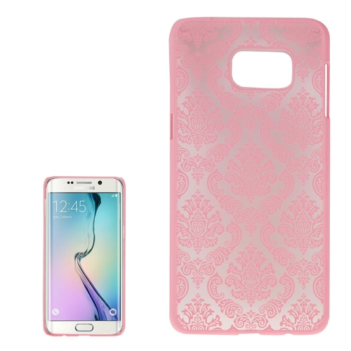 Buy For Samsung Galaxy S6 Edge+ / G928 Embossed Flowers Pattern Protective Hard Case, Pink for $1.28 in SUNSKY store