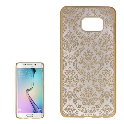 Buy For Samsung Galaxy S6 Edge+ / G928 Embossed Flowers Pattern Protective Hard Case, Gold for $1.28 in SUNSKY store