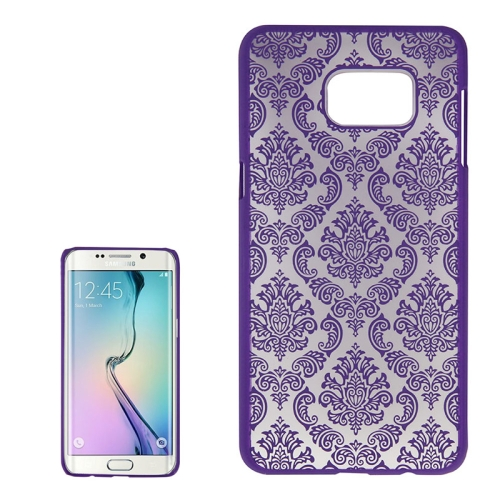 Buy For Samsung Galaxy S6 Edge+ / G928 Embossed Flowers Pattern Protective Hard Case, Purple for $1.28 in SUNSKY store