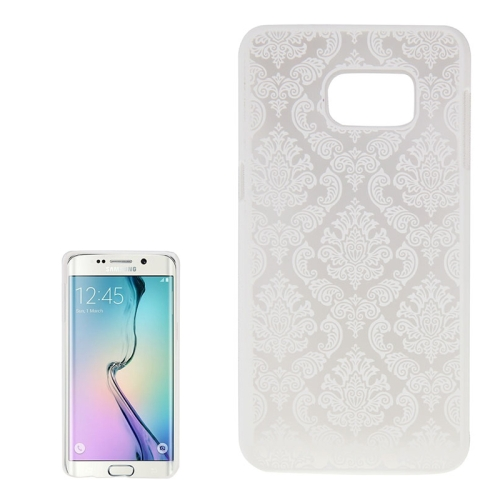 Buy For Samsung Galaxy S6 Edge+ / G928 Embossed Flowers Pattern Protective Hard Case, White for $1.28 in SUNSKY store