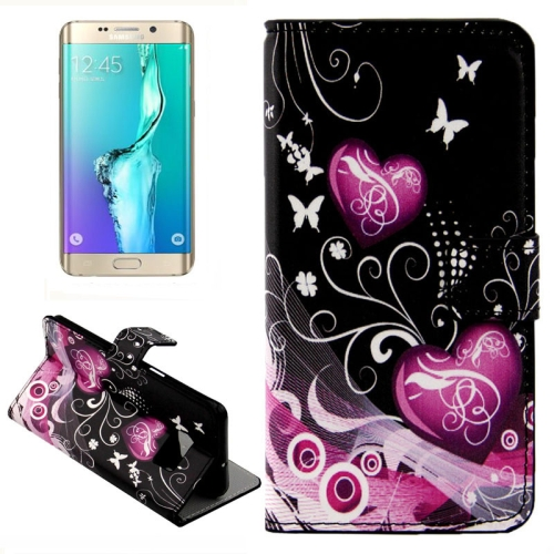 Buy For Samsung Galaxy S6 Edge + / G928 Hearts Pattern Horizontal Flip Leather Case with Card Slots & Wallet & Holder for $2.39 in SUNSKY store
