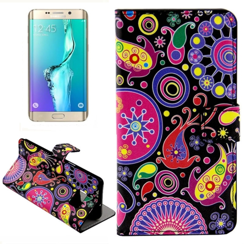 Buy For Samsung Galaxy S6 Edge + / G928 Color Acaleph Pattern Horizontal Flip Leather Case with Card Slots & Wallet & Holder for $2.39 in SUNSKY store