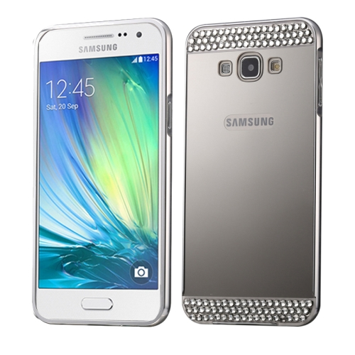 Buy Diamond Encrusted Push-pull Style Metal Plating Bumper Frame + Acrylic Back Cover Combination Case for Samsung Galaxy A3 / A300F, Silver for $2.76 in SUNSKY store