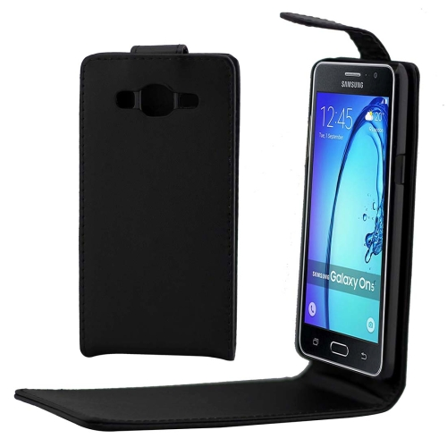 Buy For Samsung Galaxy On5 / G5500 Khaki Lining Vertical Flip Magnetic Buckle PU Leather Case, Black for $1.54 in SUNSKY store