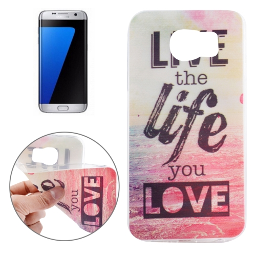 Buy For Samsung Galaxy S7 Edge/G935 Ultrathin Words Hang Over the Sea Pattern Soft TPU Protective Cover Case for $1.16 in SUNSKY store