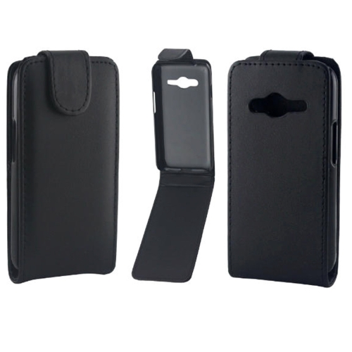 Buy Vertical Flip Magnetic Snap Leather Case for Samsung Galaxy Ace 4 / G313F, Black for $1.43 in SUNSKY store