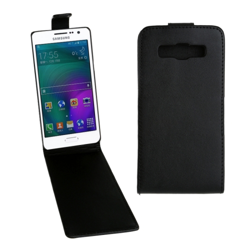 Buy Vertical Flip Magnetic Snap Leather Case for Samsung Galaxy A3 / A300F, Black for $1.43 in SUNSKY store