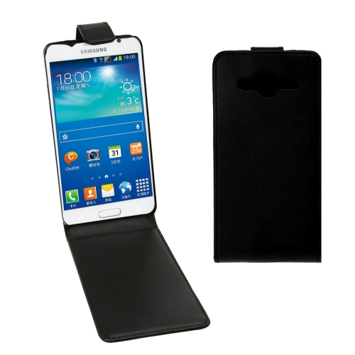 Buy Vertical Flip Magnetic Snap Leather Case for Samsung Galaxy Core II / G355H, Black for $1.44 in SUNSKY store