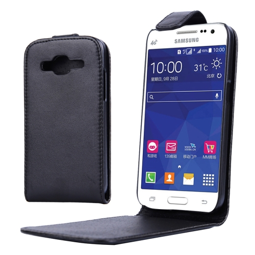 Buy Vertical Flip Magnetic Snap Leather Case for Samsung Galaxy Core Prime / G360, Black for $1.44 in SUNSKY store
