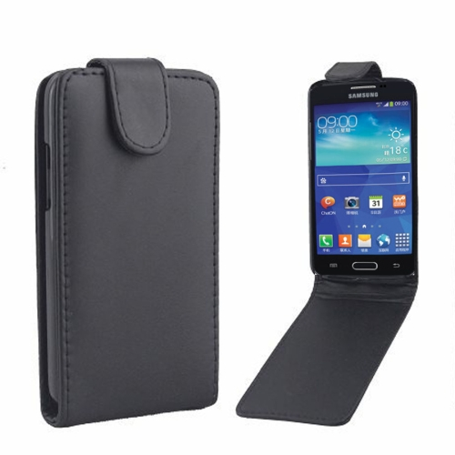 Buy Vertical Flip Magnetic Snap Leather Case for Samsung Galaxy Core LTE / G386F, Black for $1.43 in SUNSKY store
