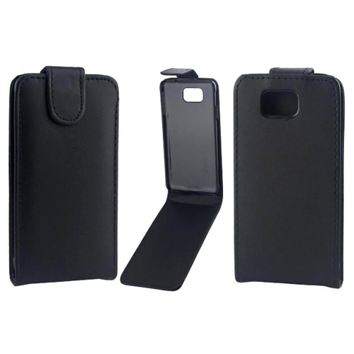 Buy Vertical Flip Magnetic Snap Leather Case for Samsung Galaxy Alpha / G850F, Black for $1.44 in SUNSKY store
