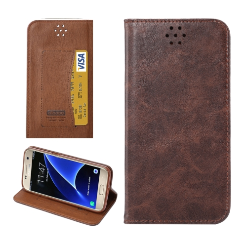 Buy For Samsung Galaxy S7/G930 Magnetic Crazy Horse Texture Horizontal Flip Leather Case with Holder & Card Slots, Coffee for $2.62 in SUNSKY store