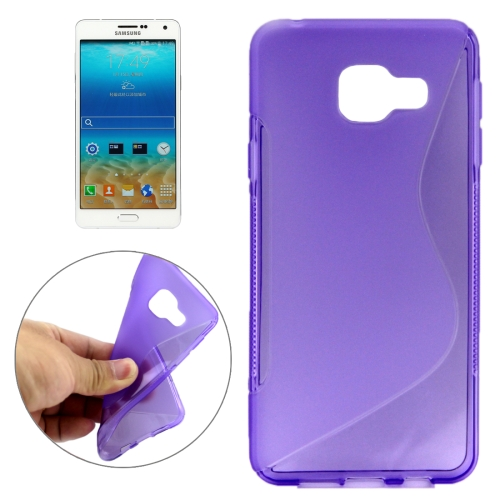 Buy For Samsung Galaxy A7, 2016 / A710 Ultrathin S-Shaped Soft TPU Protective Cover Case, Purple for $1.15 in SUNSKY store