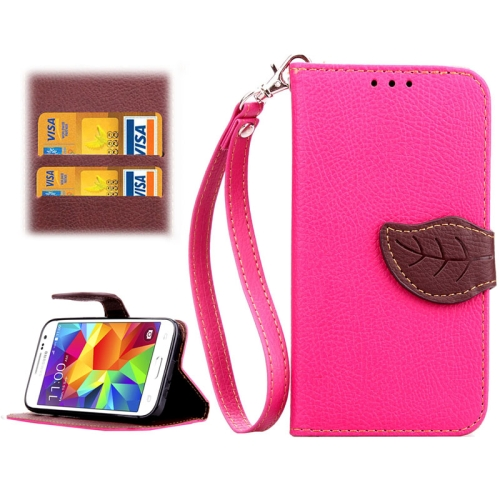 Buy Leaf Magnetic Snap Litchi Texture Horizontal Flip Leather Case with Card Slots & Wallet & Holder & Lanyard for Samsung Galaxy Core Prime / G360, Magenta for $2.54 in SUNSKY store