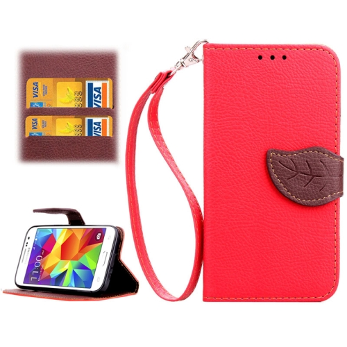 Buy Leaf Magnetic Snap Litchi Texture Horizontal Flip Leather Case with Card Slots & Wallet & Holder & Lanyard for Samsung Galaxy Core Prime / G360, Red for $2.54 in SUNSKY store