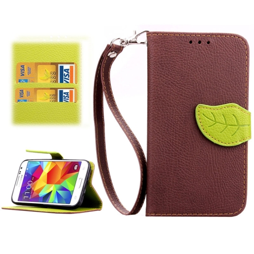 Buy Leaf Magnetic Snap Litchi Texture Horizontal Flip Leather Case with Card Slots & Wallet & Holder & Lanyard for Samsung Galaxy Core Prime / G360, Brown for $2.54 in SUNSKY store