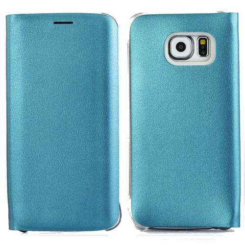 For Samsung Galaxy S6 Edge / G9250 Horizontal Flip Leather Case with Card Slots, Blue