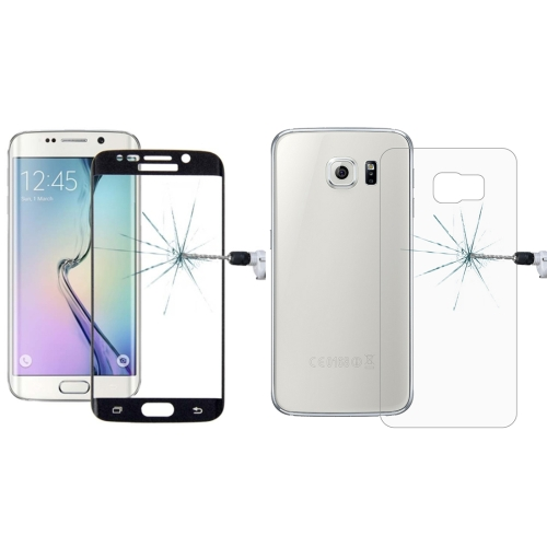 Buy 0.3mm 9H Surface Hardness 3D Curved Surface Full Screen Cover Explosion-proof Tempered Glass Front Film + 2.5D Back Film for Samsung Galaxy S6 Edge+ / G928, Black for $2.67 in SUNSKY store