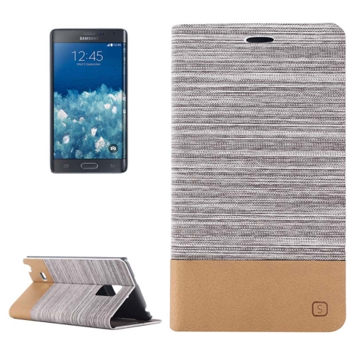 Buy Horizontal Flip Canvas Leather Case with Card Slot & Holder for Samsung Galaxy Note Edge / N915, Gray for $2.48 in SUNSKY store