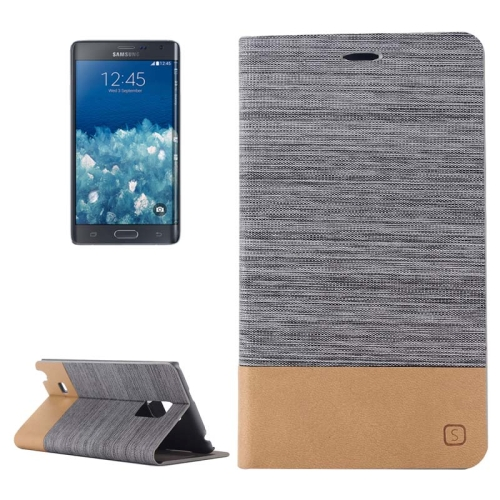 Buy Horizontal Flip Canvas Leather Case with Card Slot & Holder for Samsung Galaxy Note Edge / N915 (Dark Gray) for $2.36 in SUNSKY store