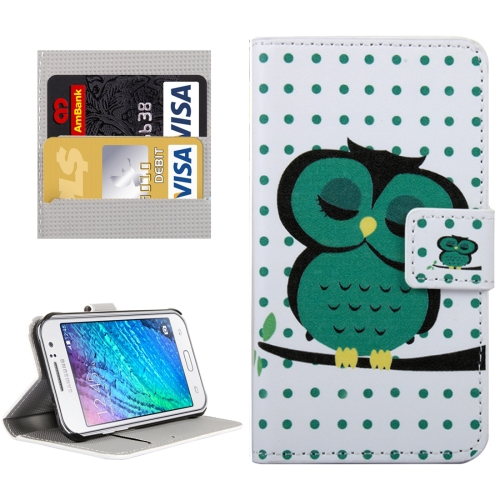 Buy For Samsung Galaxy J1 Ace / J110 Owl in Deep Thought Patterns Horizontal Flip Leather Case with Magnetic Snap & Card Slots & Holder & Wallet for $2.30 in SUNSKY store