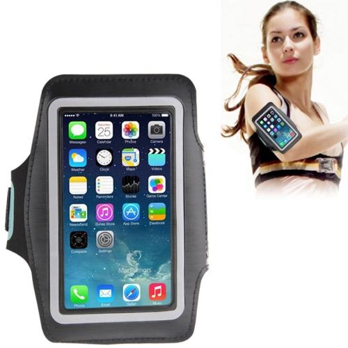 Universal PU Sports Armband Case with Earphone Hole for iPhone 7 / iPhone 6 / Galaxy S IV / i9500 / S III / i9300(Black)