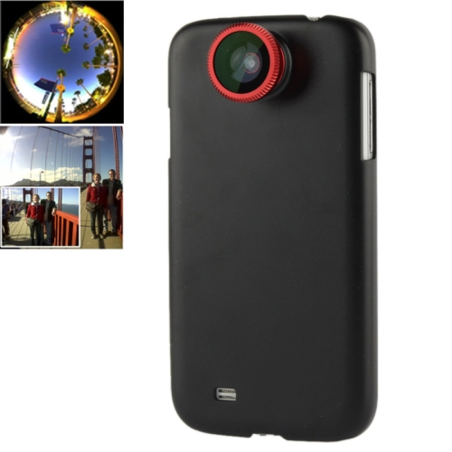 Buy 180 Degree Fisheye Lens + 0.67X Wide Lens + Macro Lens + Plastic Case for Samsung Galaxy S IV / i9500, Red for $2.67 in SUNSKY store