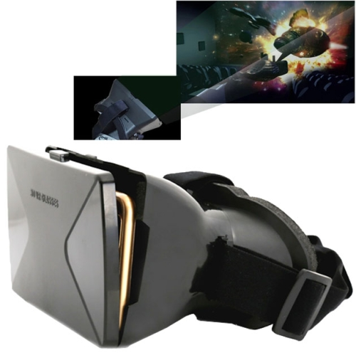 Buy 3D Cardboard Head Mount Plastic Virtual Reality 3D Video Glasses for 6.0 inch Android iOS Smartphone, Black for $9.19 in SUNSKY store