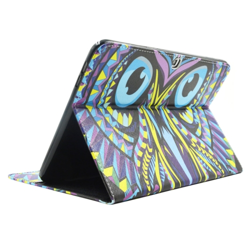 Buy Owl Pattern Leather Case with Holder & Card Slots & Wallet for Samsung Galaxy Tab 4 10.1 / T530 for $5.86 in SUNSKY store