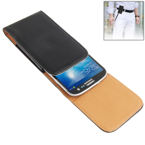 Buy Waist Pack Leather Case with Belt Clip for iPhone 6 & 6S, Samsung Galaxy S5 / G900 / S III / i9300 / S IV / i9500, Black for $2.39 in SUNSKY store