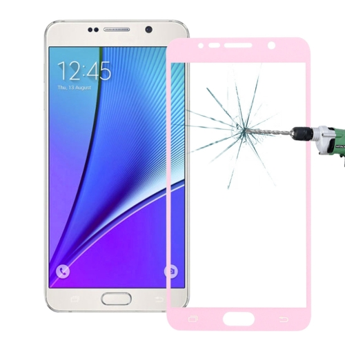Buy 0.26mm 9H Surface Hardness Explosion-proof Colorized Silk-screen Tempered Glass Full Screen Film for Samsung Galaxy Note 5 / N920, Pink for $1.34 in SUNSKY store