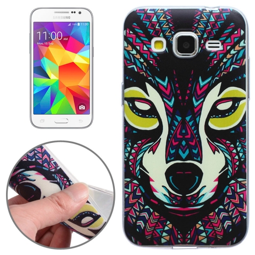 SUNSKY - Ethnic Wolf Pattern Ultrathin TPU Case for Galaxy Core Prime / G360