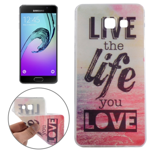 Buy For Samsung Galaxy A3, 2016 / A310 Ultrathin Words Hang Over the Sea Pattern Soft TPU Protective Cover Case for $1.16 in SUNSKY store