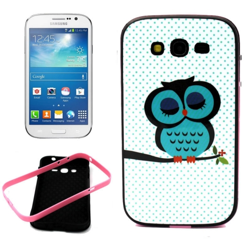 Buy Lovely Cartoon Owl Pattern Plain Weave Texture Synthetic Rubber Plastic Material Combination Case for Samsung Galaxy Grand Neo i9060 / i9082 for $1.48 in SUNSKY store