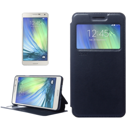 Buy Crazy Horse Texture Horizontal Flip Leather Case with Card Slots & Call Display ID & Holder for Samsung Galaxy A7 (Dark Blue) for $3.88 in SUNSKY store
