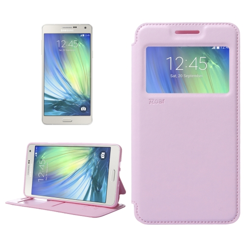 Buy Crazy Horse Texture Horizontal Flip Leather Case with Card Slots & Call Display ID & Holder for Samsung Galaxy A7, Pink for $3.88 in SUNSKY store