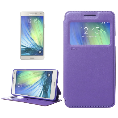 Buy Crazy Horse Texture Horizontal Flip Leather Case with Card Slots & Call Display ID & Holder for Samsung Galaxy A7, Purple for $3.88 in SUNSKY store