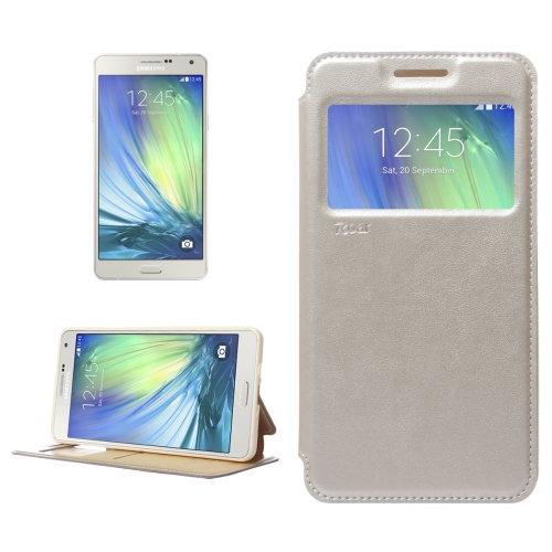 Buy Crazy Horse Texture Horizontal Flip Leather Case with Card Slots & Call Display ID & Holder for Samsung Galaxy A7, Silver for $3.88 in SUNSKY store