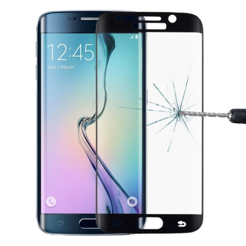 Buy LOPURS 0.2mm 9H Surface Hardness 3D Curved Surface Full Screen Cover Explosion-proof Tempered Glass Film for Samsung Galaxy S6 edge, Black for $2.00 in SUNSKY store